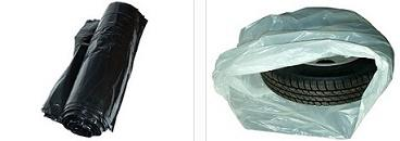 Signal tape. The garbage bags. Raw materials for wreaths